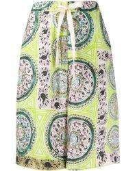 JW Anderson Mystic Paisley-print Shorts - Green