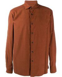 Ermenegildo Zegna Cotton-twill Shirt - Orange