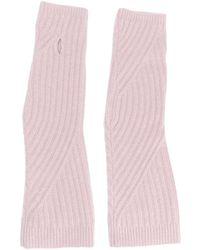Pringle of Scotland Перчатки В Рубчик - Розовый