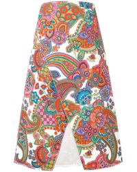 Ports 1961 - Printed A-line Skirt - Lyst