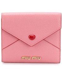 Miu Miu - フラップ財布 - Lyst