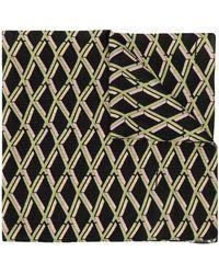 Preen By Thornton Bregazzi Geometric Print Scarf - Black