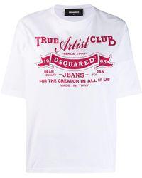 DSquared² Camiseta con estampado gráfico - Blanco
