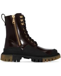 Dolce & Gabbana Массивные Ботинки В Стиле Милитари - Коричневый