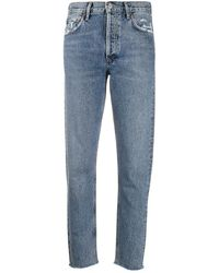 Agolde Jamie High-rise Jeans - Blue
