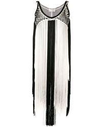 Alberta Ferretti - バイカラー ドレス - Lyst