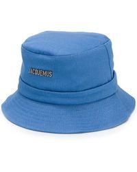 Jacquemus ロゴ バケットハット - ブルー