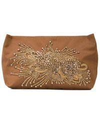 Rachel Comey Crystal Embellished Clutch - Brown
