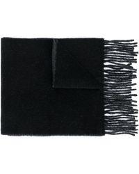 Vivienne Westwood ロゴ インターシャ スカーフ - ブラック