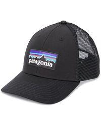 Patagonia Gorra de béisbol con parche del logo - Negro