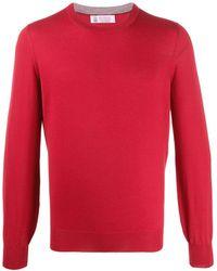 Brunello Cucinelli Пуловер С Круглым Вырезом - Красный
