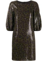 Boutique Moschino - レオパード スパンコール ドレス - Lyst