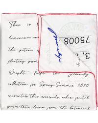 Givenchy Schal mit Postkarten-Print - Weiß