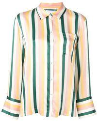Asceno - Striped Pyjama Shirt - Lyst