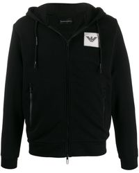 Emporio Armani City List Bomber Jacket - Black