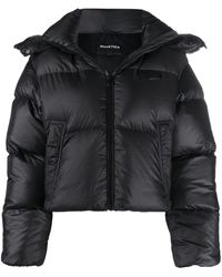 Duvetica Cropped Puffer Jacket - Black