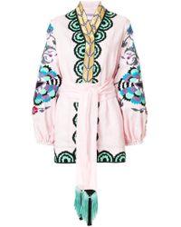 Yuliya Magdych - Floral Embroidered Kimono Top - Lyst