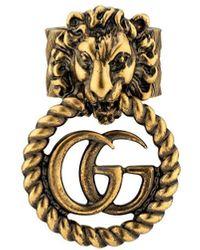 Gucci Ring Met Leeuwenkop - Metallic