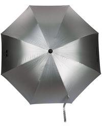 Karl Lagerfeld K/ikonik ロゴ プリント 傘 - メタリック
