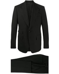Tom Ford Traje formal con botones - Negro