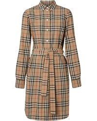 Burberry チェック シャツドレス - マルチカラー