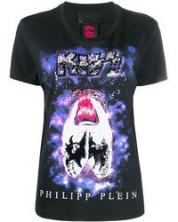 Philipp Plein Футболка С Принтом X Kiss - Черный