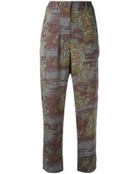 Vanessa Bruno Athé - Printed High Waisted Trousers - Lyst