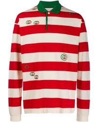 Gucci Рубашка-регби В Полоску - Красный