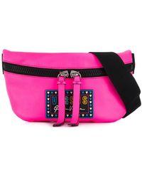 Versus Logo Zipped Belt Bag - Pink