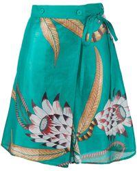 Hermès Юбка-шорты С Цветочным Принтом - Зеленый