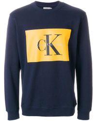 Calvin Klein Jeans | Printed Logo Sweatshirt | Lyst