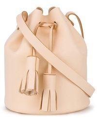 Building Block - Peach Tassel Leather Bucket Bag - Lyst