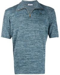 GmbH Half-zip Fitted Top - Blue