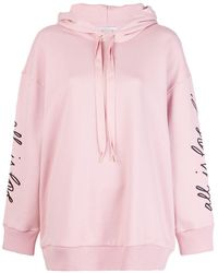 Stella McCartney All Is Love Embroidered Hoodie - Roze