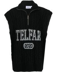Telfar Pullover Met Logoprint - Zwart