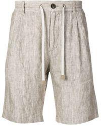 Eleventy - Striped Drawstring Shorts - Lyst