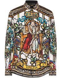Dolce & Gabbana Camisa King's Age estampada - Marrón