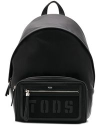 Tod's ロゴ バックパック - ブラック