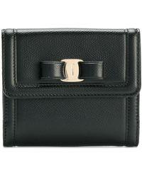 Ferragamo Vera Bow Compact Wallet - Zwart