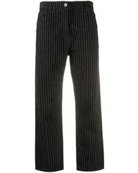 YMC ピンストライプ パンツ - ブラック