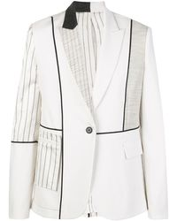 Monse Inside-out Patchwork Blazer - White