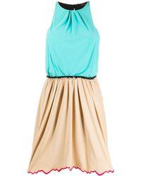Louis Vuitton ノースリーブ ギャザードレス - ブラウン