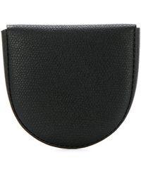 Valextra Textured Coin Purse - Black
