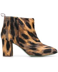 Paola D'arcano - Animal Printed Boots - Lyst