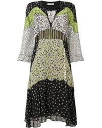 Dorothee Schumacher Colour-block Flared Dress - Black