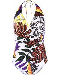 Roseanna Costume intero con stampa - Bianco
