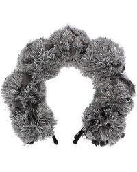 Parlor Pompom Detail Headband - Gray