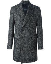 Dell'Oglio Двубортное Пальто Миди - Серый