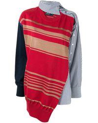 Kolor Asymmetrisches Hemd - Rot