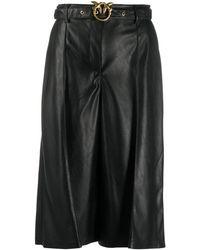 Pinko - Cropped-Hose aus Kunstleder - Lyst